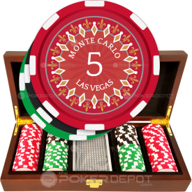 Monte Carlo Casino Poker Chip Set