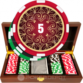 Filigree Poker Chip Set