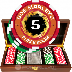 Man Cave Poker Room Chip Set