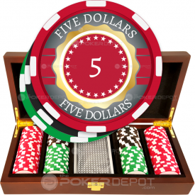 Gold Ribbon Poker Chip Set