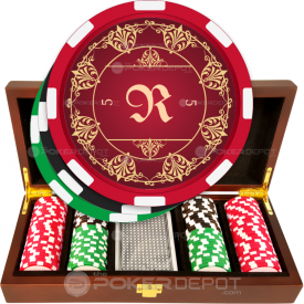 Elegant Monogram Poker Chip Set