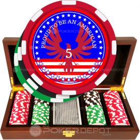 Patriotic Poker Chip Set