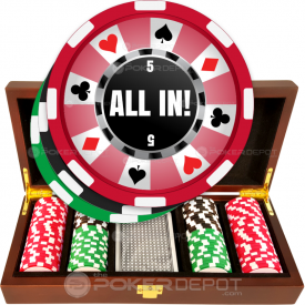 Ring of Suits Poker Chip Set Front