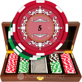 Plush Elegant Poker Chip Set