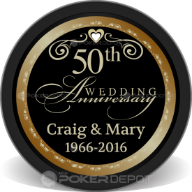 50th Wedding Anniversary Chips Front