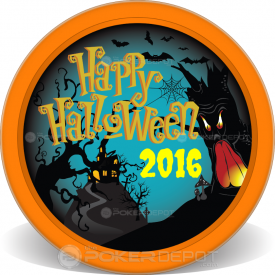 Happy Halloween Poker Chips Front