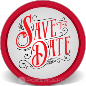 Save The Date Retro Poker Chips Front