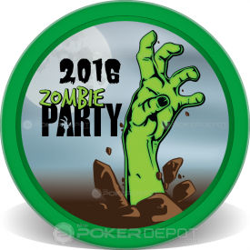 Zombie Party Poker Chips Front