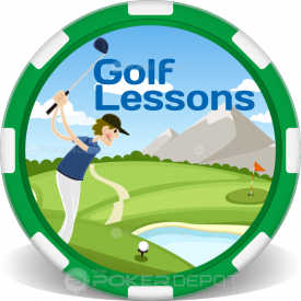Golf Lessons Poker Chips Front