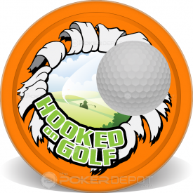 Hooked on Golf Poker Chips Front