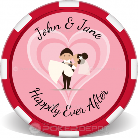 Wedding Couple Poker Chip Front