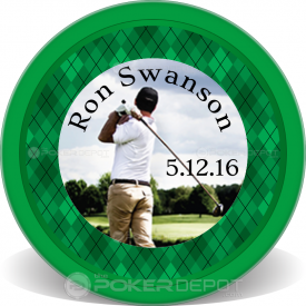 Golf Plaid Poker Chips Front