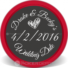 Save The Date 04 Poker Chip Front