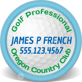 Golf Pro Poker Chip Front