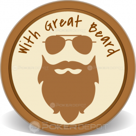 Epic Beard Poker Chips Front