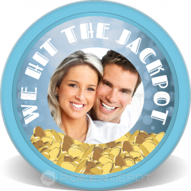 Married Jackpot Poker Chip Front