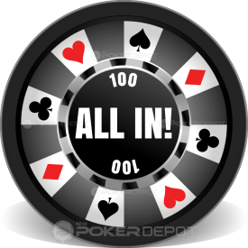 Ring of Suits Poker Chips Front