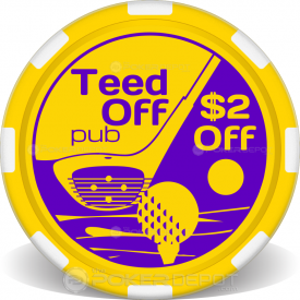 Tee Time Poker Chips Front