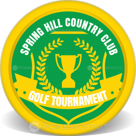 Golf Tournament Poker Chip Front