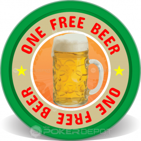 Free Beer Poker Chips Front