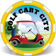 Golf Cart Poker Chips Front