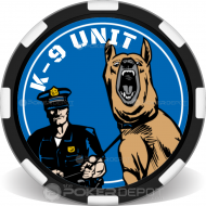 K9 Unit Poker Chips Front
