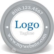 Logo & Slogan Poker Chip Front