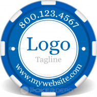 Custom Logo Poker Chip Front