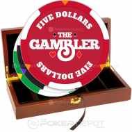 The Gambler Poker Chip Set Front