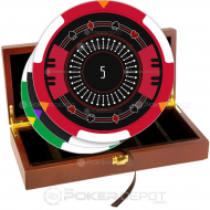 Stylish Elegant Poker Chip Set Front