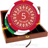 Monte Carlo Casino Poker Chip Set Front