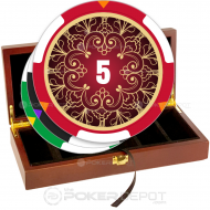 Filigree Poker Chip Set Front