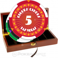 Circus Style Poker Chip Set Front