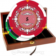Plush Elegant Poker Chip Set Front