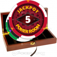 Jackpot Poker Room Chip Set Front