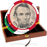 US Currency Poker Chip Set Front