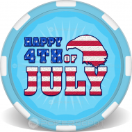 Happy 4th of July Poker Chips Front