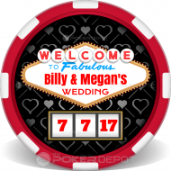 Vegas Wedding Poker Chips Front