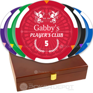 Player's Club Poker Chip Set Front
