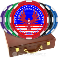Patriotic Poker Chip Set Front