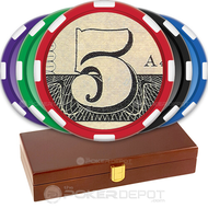US Dollar Poker Chip Set Front
